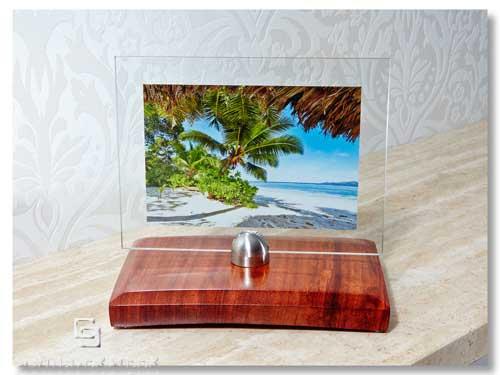 bilderrahmen rosenholz bildhalter rahmenlos schreibtisch glasrahmen edelstahl 4260404243403 ebay. Black Bedroom Furniture Sets. Home Design Ideas