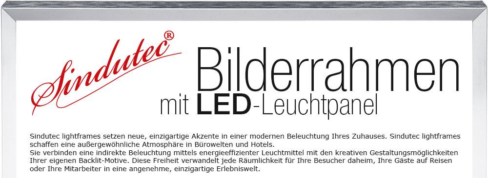 led leuchtrahmen eigenes motiv wechselrahmen led panel bilderrahmen aluminium ebay. Black Bedroom Furniture Sets. Home Design Ideas